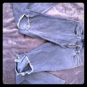 Gray  hollister jeans